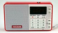 Tecsun Q3 High Sound Quality Fm Radio With Mp3 Player And Recorder - Red