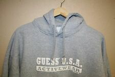 VINTAGE GUESS ? USA Athletics 1993 Flat Bottom Hoodie Sweatshirt Mens Large L