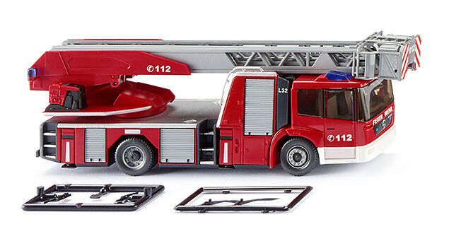 Wiking 062704 h0 Camions Mercedes Econic Metz DL 32 POMPIERS Drehleiter