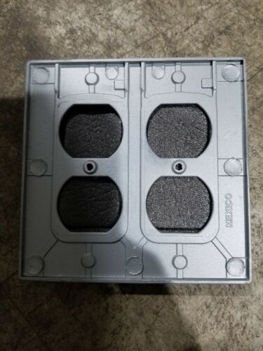 NEW STEEL CITY RED DOT WR281-C WEATHER PROOF 2 GANG OUTLET COVER