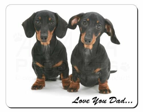 DAD-24M Dachshund Dogs /'Love You Dad/' Computer Mouse Mat Christmas Gift Idea