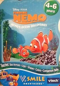 VTECH-VSMILE-Smartridge-DISNEY-PIXAR-FINDING-NEMO-ages-4-6-years-NIP