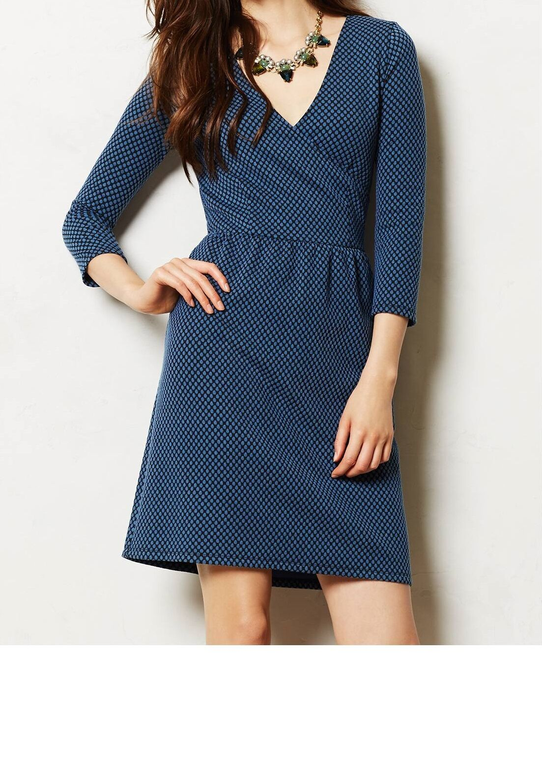 d3caabd8eba8 HD in Paris Textured Wrap Dress Size Motif NW ANTHROPOLOGIE Tag Small bluee  nwouun27047-Dresses