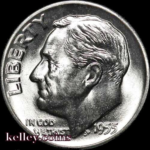 1955-D 10C Roosevelt Silver Dime BU