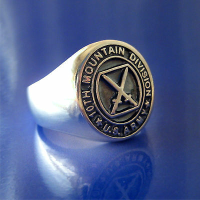 1st Cavalry Division Ring Size 8 to 14 Solid Sterling Silver