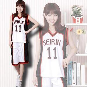 Kuroko no Basuke Kuroko Tetsuya Seirin School Uniform Jersey Cosplay Costume