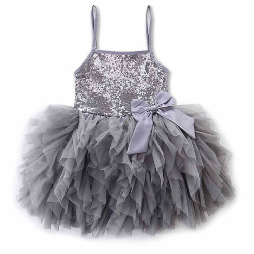 Toddler Kids Baby Girl Sequin Dress Ball Gown Party Pageant Bridesmaid Dresses