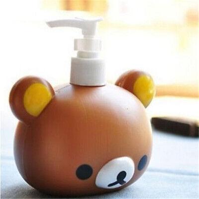 FD4394 Rilakkuma San-X Relax Bear Head Bath Dispenser Shampoo Bottle Gift♫