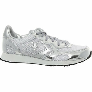 Ladies or Girls Sparkle & Shimmer Glitter Trainers in Silver in Size UK 5 /EU38