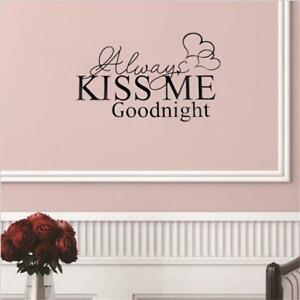 Home-Decor-Decals-Wall-Stickers-Diy-Couples-Usual-Fashion-Alwayskissme-Quote-HS3