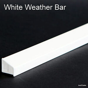 ... WHITE Weather Rain Deflector Drip Bar Upvc Door