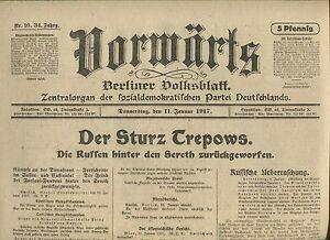 En Avant (11. Janvier 1917): La Chute Trepows-afficher Le Titre D'origine