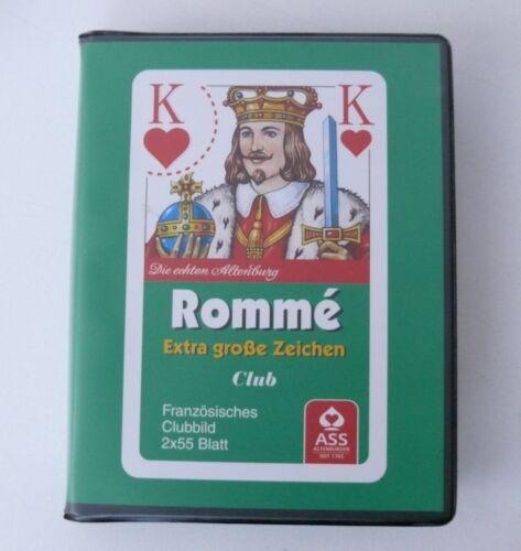 Altenburger Französisches Clubbild Rommé Kartenspiel Extra große Zeichen