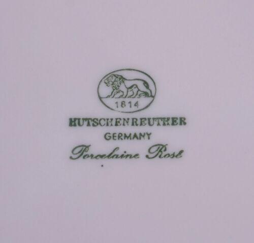 Hutschenreuther Porcellain Rose Kuchenteller Teller Ø 19,5 cm 70er 80er Jahre
