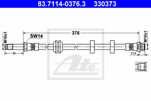 Bremsschlauch ATE 83.7114-0376.3