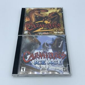 Carnivores 2 And Carnivores Ice Age PC Game Lot Windows 95 98