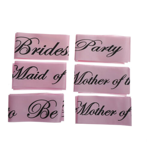 1Pc Pink Bachelorette Party Sashes Bride to Be Sash Maid Honor Bridesmaia TO