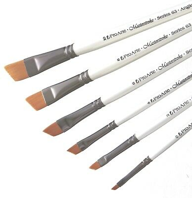 Pro Arte Masterstroke Prolon Painting Brushes Series 63 Angled Shader