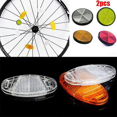 2pcs Bicycle Spoke Reflector Safety Warning Light Wheel Rim Reflective Li hwT GU