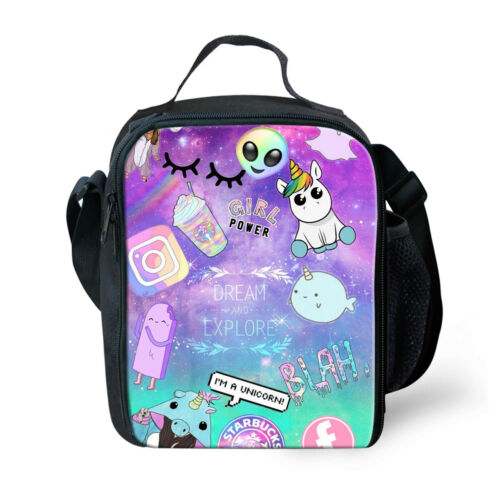 Alien Junior school Bag Backpack Boys Girls Satchel Lunch Bags Student Rucksack