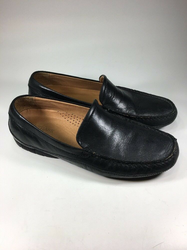 HS Trask Driving Moc II Black Leather Loafers Mens Size 10 M