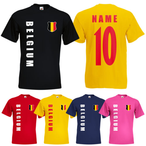 WM 2018 Belgien BELGIUM T-Shirt Trikot Name Nummer Mini WM