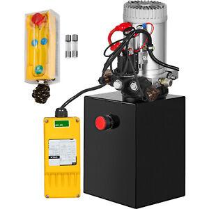 6-Quart-Double-Acting-Hydraulic-Pump-Remote-Control-Reservoir-Power-Unit-12V