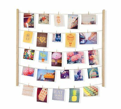 Umbra HANGIT PHOTO DISPLAY NATURAL Multi Photo Frame MEMO HOLDER Hang It