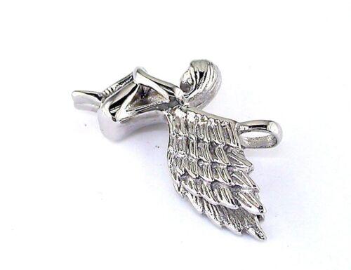 Stainless Steel Sitting Fairy Pendant