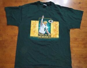 b2d2d9f2f NFL Gildan Green Bay Packers T Shirt L  4 Brett Favre Thanks for the ...