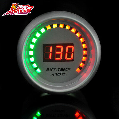 "White Auto Car 2"" 52mm Red Digital Color 20 LED EGT Exhaust Gas Temp Gauge Meter"