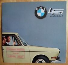 BMW 700 LS Luxus Saloon 1962 rare prestige UK Market brochure prospekt