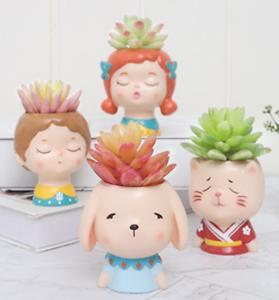 1Pcs Resin Succulent Container Flowerpot Home Pot Photo Props Desk Ornament