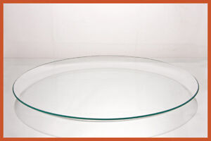 "14"" Round Clear ""BENT"" Glass Plate  1/8"