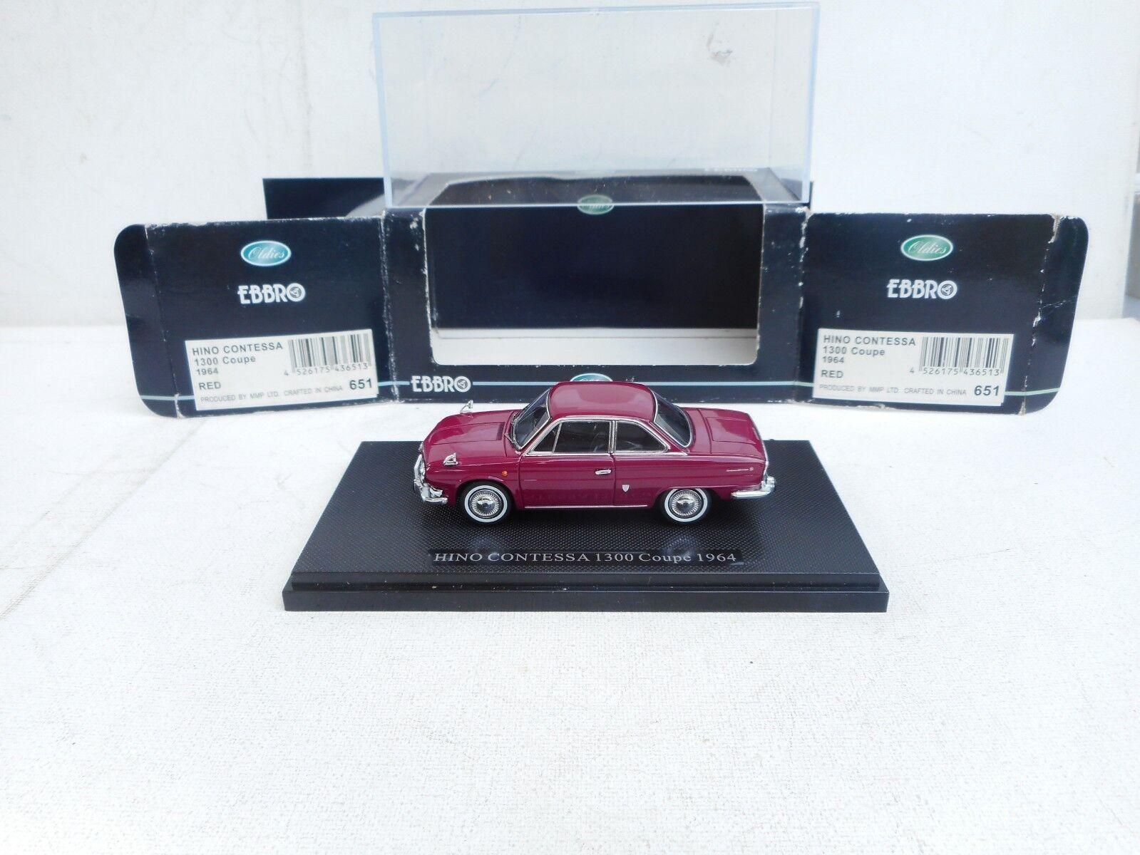 EBBRO 1964 Hino Contessa 1300 Coupe purpleC  1 43 Scale Diecast Model NEW, RARE