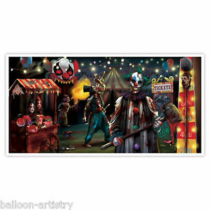 1.65m Halloween CREEPY CARNIVAL Party Sinister Wall Poster ...