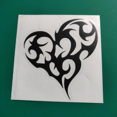 Tribal Heart #2 Symbole-Voiture//Van//Camper//Vélo Autocollant Sticker Vinyle Graphique