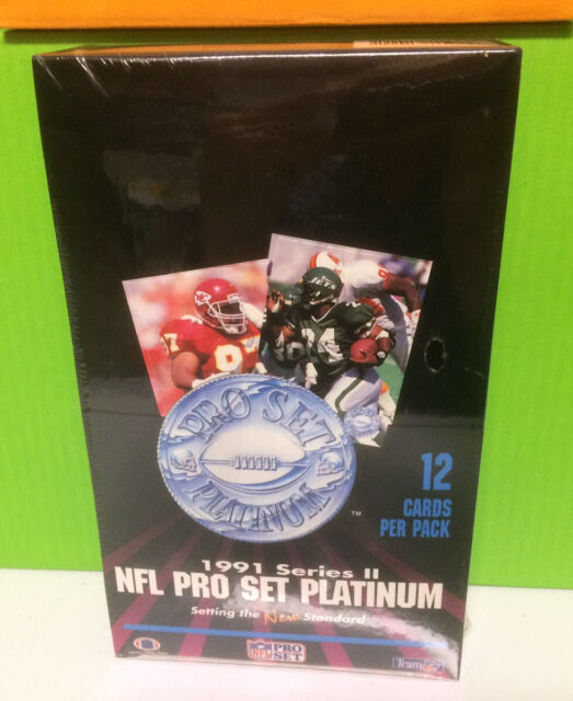 1991 Pro Set PLATINUM series 2 Football card box Factory Sealed contains 36pks