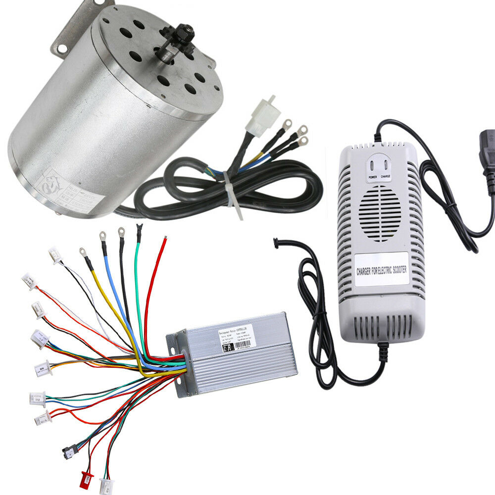 48V 1800W Electric Scooter Speed Controller Box  Motor Unit Brushless  Charger