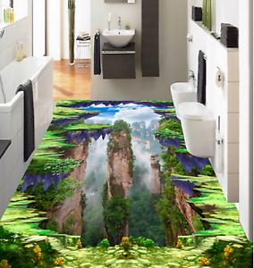 3D Hill Cliff  Cloud 74 Floor Wall Paper Murals Wall Print AJ WALLPAPER Lemon