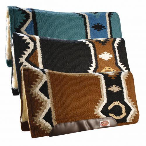 Showman SADDLE PAD Contoured WOOL  Kodel Fleece Breathable MEMORY FELT 34  x 36   for wholesale