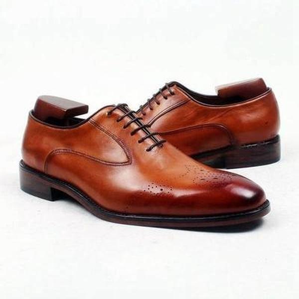 Handmade Men Oxford brogue shoes, Men brown brown brown formal shoes, Men leather shoes 2f2d99