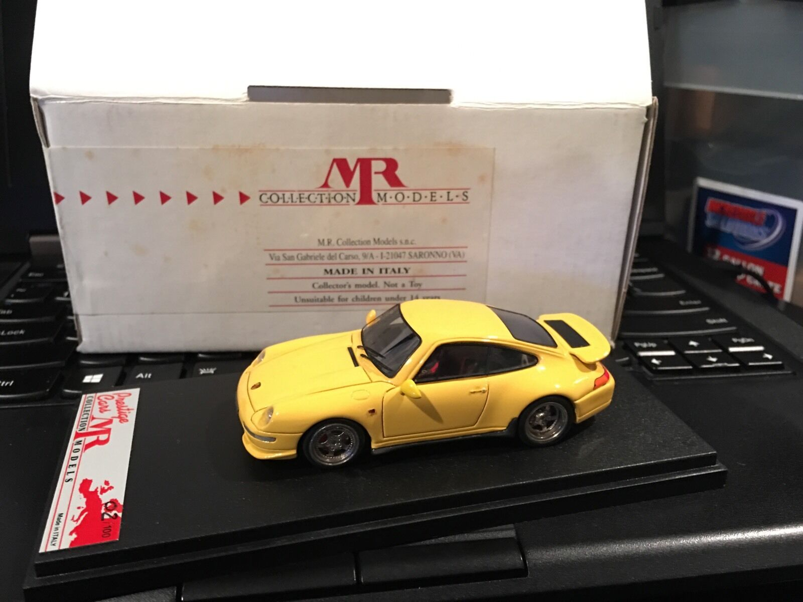 1 43 MR PORSCHE 911 CARRERA RS giallo GT  02 100 LE n BBR LOOKSMART-RARE