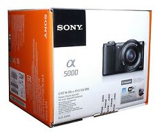 Sony Alpha 5000 sistema fotocamera con obiettivo 16-50 mm 20.1 Megapixel Nero