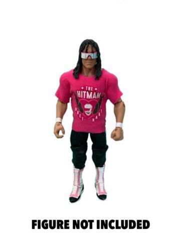 WWE Bret Hitman Hart La Camicia personalizzato per Mattel figure.
