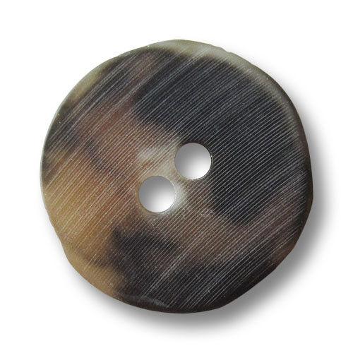 10 urige marrón oscuro marrón claro descubrí plástico botones en cuerno óptica 3061sb
