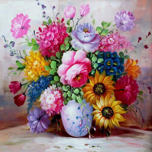 Full drill 5D DIY Diamond Painting Colorful Flower Decor Art Crafts L468