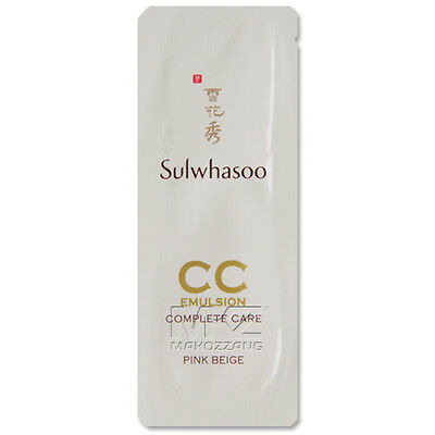 Sulwhasoo CC Emulsion #1 Complete Care 30pcs BB Cream Foundation Amore Pacific
