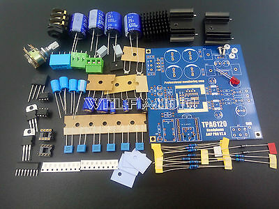 DIY TPA6120A2 HIFI Headphone Amplifier Board Kit Monitor leve Amp Latest EditioN