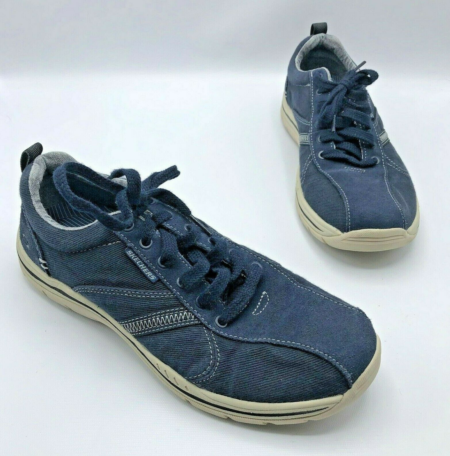 690c6d8c0a42f Skechers Expected Mellow 64361 Men bluee Athletic shoes Size 8 Pre Owned